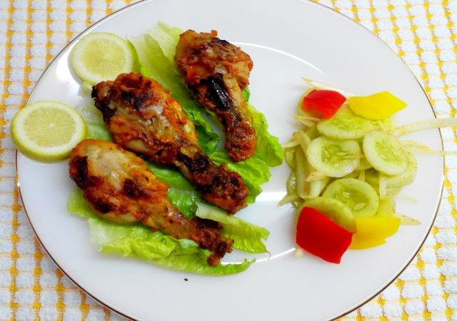 Tandoori Chicken Recipe (Roasted Chicken Drumsticks)