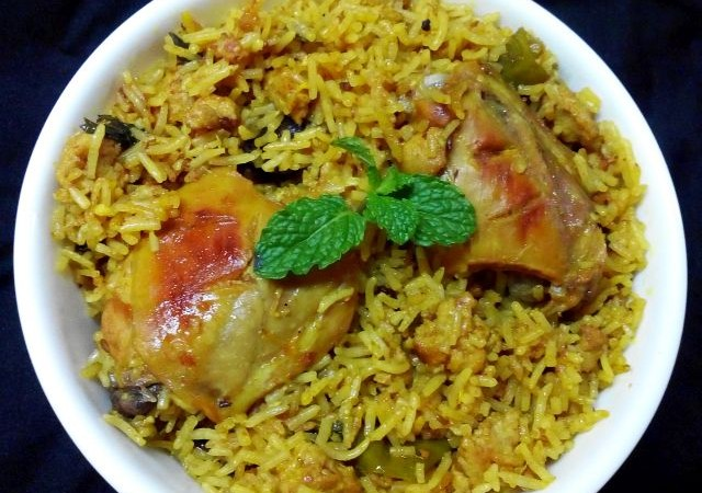 Keema Chicken Pulao – Aromatic rice with mince and pieces of chicken