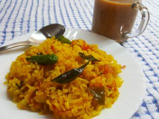 Aloo Poha with Tea