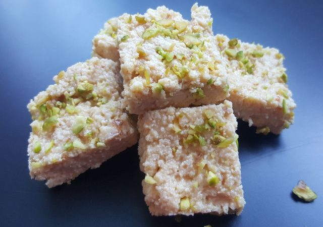 Kalakand or Indian Milk Cake or Burfi