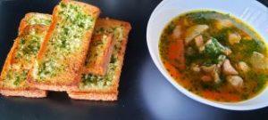 Serving Garlic Bread